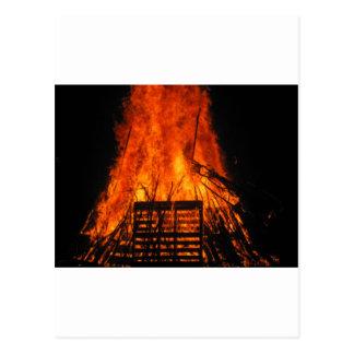 Wicker fire postcard