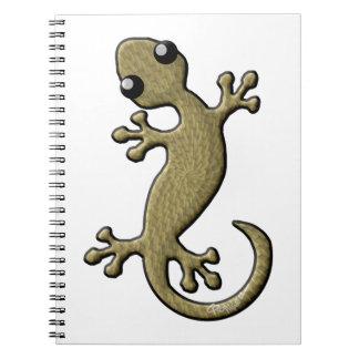 Wicker gecko spiral notebook