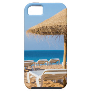 Wicker parasol with beach beds.JPG Case For The iPhone 5