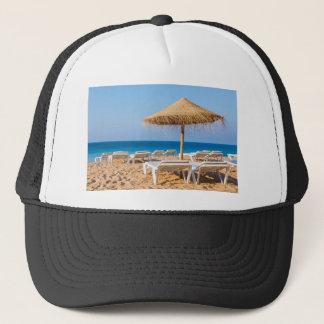 Wicker parasol with beach beds.JPG Trucker Hat