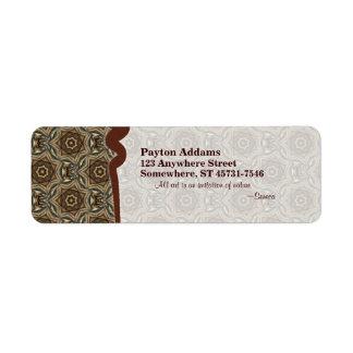 Wicker Star Pattern 1 • Avery Label Return Address Label