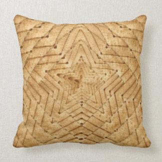 Wicker Star Throw Pillow