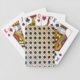 wicker textured playing cards