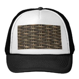 wicker work pattern hat