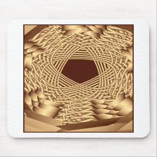 wicker woven pentacle mouse pads