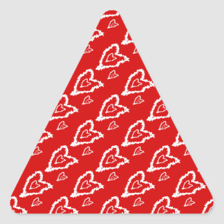 Wicket cool Red heart Design Triangle Sticker
