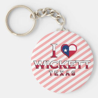 Wickett, Texas Basic Round Button Key Ring