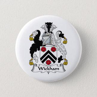 Wickham Family Crest 6 Cm Round Badge