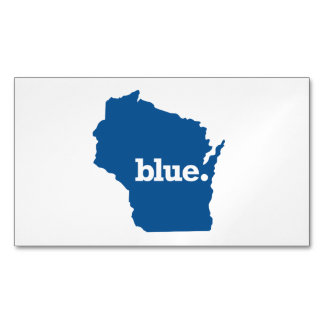 WICONSIN BLUE STATE MAGNETIC BUSINESS CARDS