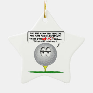 Widdle ball golf ornament