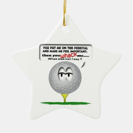 Widdle ball golf ornament