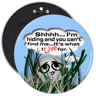 Widdle Ball in the Rough Pinback Buttons