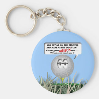 Widdle Ball in the Rough Basic Round Button Key Ring