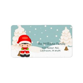Widdle Wonders Santa Boy-Address Label Address Label