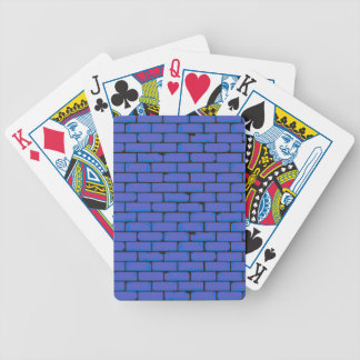 Wide Blue Wall Background Bicycle Playing Cards