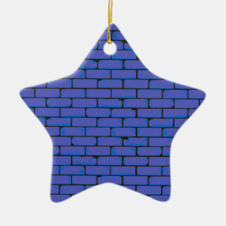 Wide Blue Wall Background Ceramic Ornament
