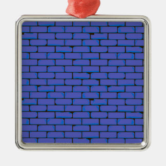 Wide Blue Wall Background Metal Ornament