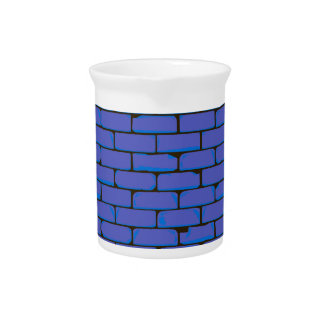 Wide Blue Wall Background Pitcher