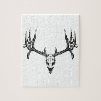 Wide buck skull jigsaw puzzle