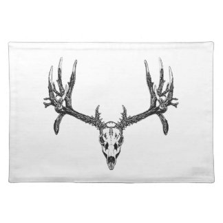 Wide buck skull placemat