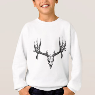 Wide buck skull sweatshirt