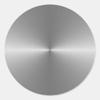 wide circular steel classic round sticker