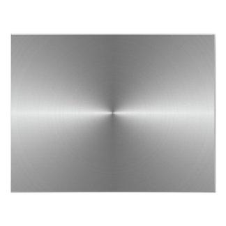 wide circular steel personalized invitation