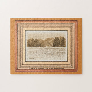 Wide Country Christmas Jigsaw Puzzle
