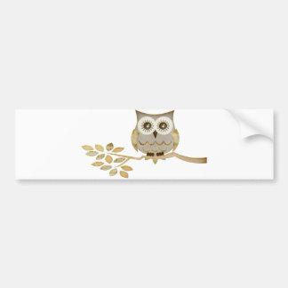 Wide Eyes Owl in Tree Bumper Sticker
