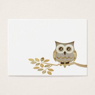 Wide Eyes Owl in Tree Business Card