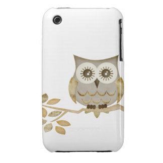Wide Eyes Owl in Tree Case iPhone 3 Case