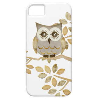 Wide Eyes Owl in Tree iPhone 5 Covers