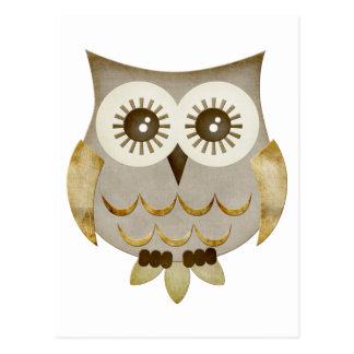 Wide Eyes Owl Postcard