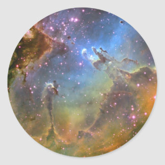 Wide-Field Image of the Eagle Nebula Classic Round Sticker
