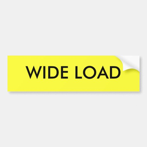 WIDE LOAD BUMPER STICKERS