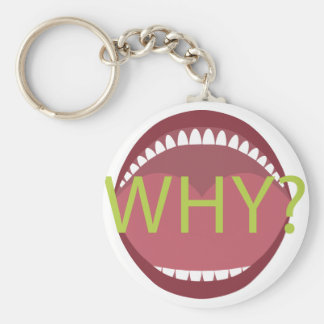Wide Open Mouth Basic Round Button Key Ring