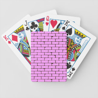 Wide Pink Wall Background Bicycle Playing Cards
