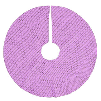 Wide Pink Wall Background Brushed Polyester Tree Skirt