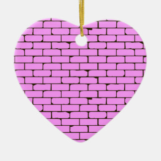 Wide Pink Wall Background Ceramic Ornament