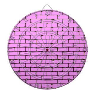 Wide Pink Wall Background Dartboard