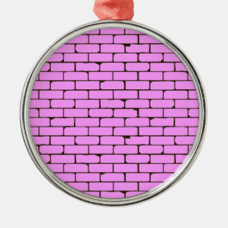 Wide Pink Wall Background Metal Ornament