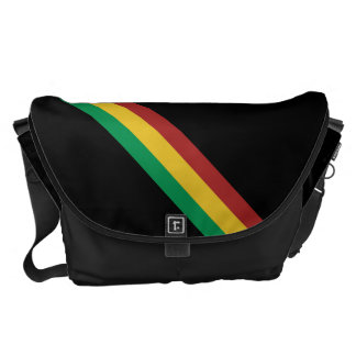 Wide Rasta Stripes Messenger Bag