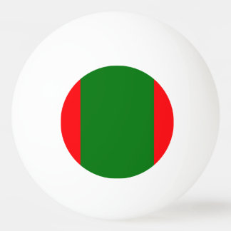 Wide Red and Green Christmas Cabana Stripes Ping Pong Ball