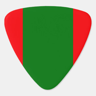 Wide Red and Green Christmas Cabana Stripes Plectrum