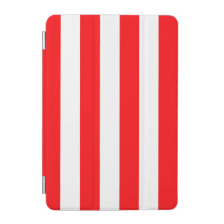 Wide Red and White Christmas Cabana Stripes iPad Mini Cover