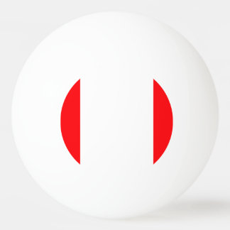 Wide Red and White Christmas Cabana Stripes Ping Pong Ball