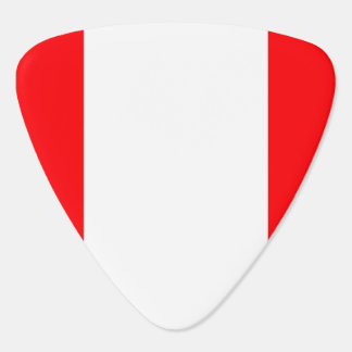 Wide Red and White Christmas Cabana Stripes Plectrum