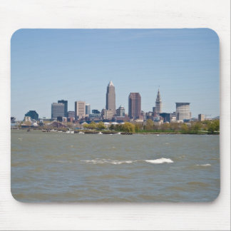 Wide Shot Cleveland Skyline Mouse Pad