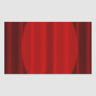 Wide Stage Curtain Spotlight Rectangular Sticker
