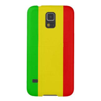 Wide Vertical Rasta Stripes Galaxy S5 Cover